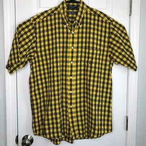 Nautica Large Blue and Yellow Plaid S/S Shirt